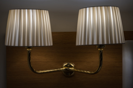 Lamps in a hotel room