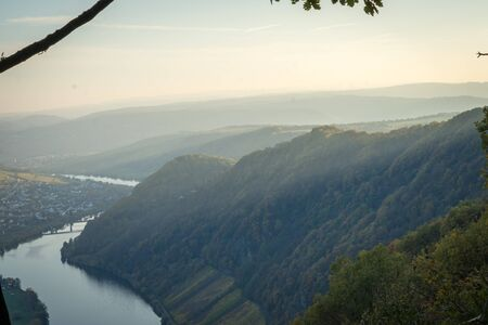 View of the Moselle and vineyards