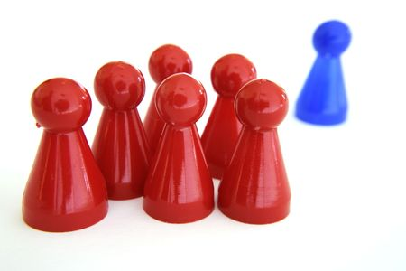Figures in symbolic grouping Stock Photo