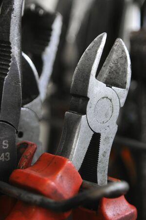Wire cutting pliers in a garage