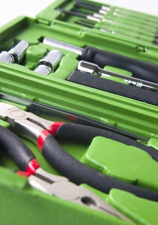 Toolbox with various tools Stock Photo