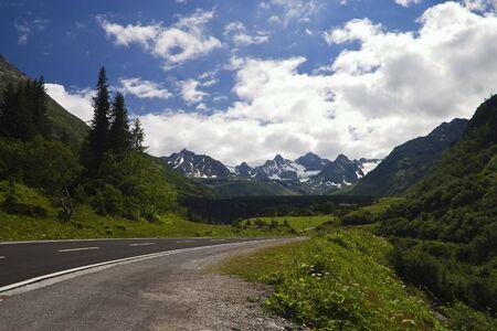Silvretta high alpine street