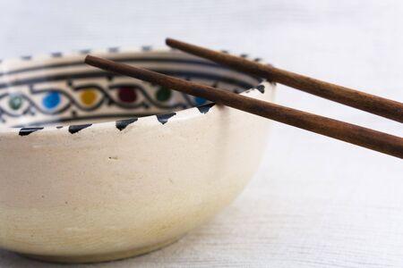 Dish and chopsticks Stock Photo