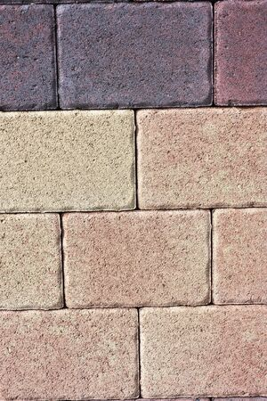 Flooring made of bricks Stock Photo