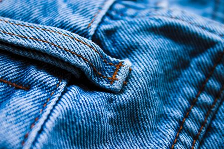 Detail of a blue jeans