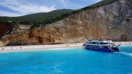 The world famous beach of Porto Katsiki, Lefkada island, Greece