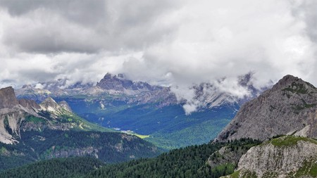 "Look at the famous peak "" Tre Cime di Lavaredo"" and Lake "" Misurina "",Dolomites, Italy."