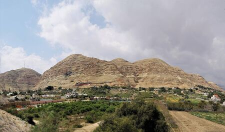 Panorama of the Mount of Temptation, Israel. Associated with a legend about Christ.