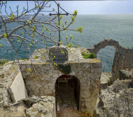 Chapel St. Nicholas of Kaliakra Cape fort, Kavarna Municipality, Bulgaria.