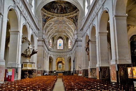 Inner view of the Church St. Philippe de Roule, Paris, France. Editorial