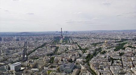 Stunning panoramic views from high on the paris, france. Editorial
