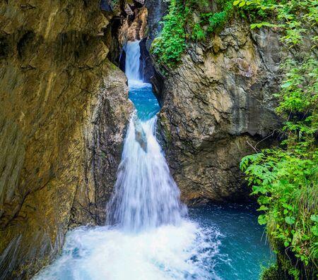 02_ The magnificent Canyon Thun Sigmun Klamm near City Kaprun, Austria.