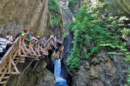 01_The magnificent Canyon Thun Sigmun Klamm near City Kaprun, Austria. 스톡 콘텐츠
