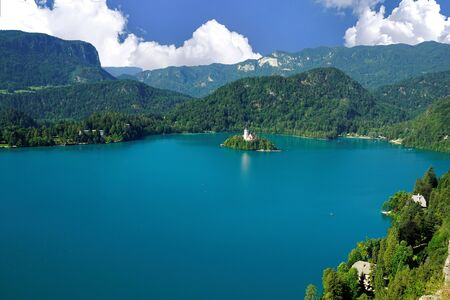 The beautiful Lake Bled, Slovenia.