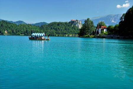 04_The beautiful medieval castle and Lake Bled, Slovenia.
