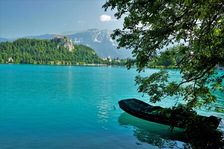 03_ The beautiful medieval castle and Lake Bled, Slovenia.