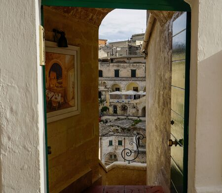 Intimate look at the historical part of the city of Matera, Italy. Banco de Imagens