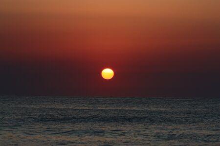 Sonnenaufgang am Meer Stock Photo