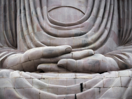 The Great Buddha Statue of Bodhgaya, India  Stock Photo