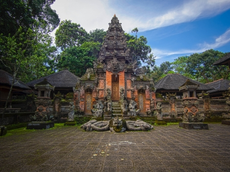 Padangtegal Monkey Forest Temple in Ubud, Bali Banco de Imagens