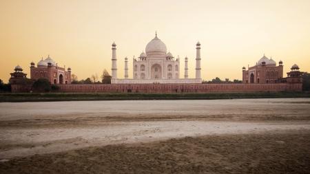 agra: The Taj Mahal at Sunset in Agra, India