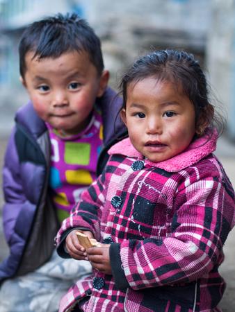 sherpa: Sherpa Children Along the Everest Base Camp Trek, Nepal