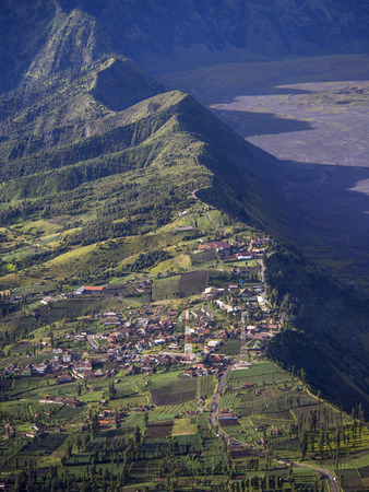 crater highlands: The Village of Cemoro Lawang, East Java, Indonesia