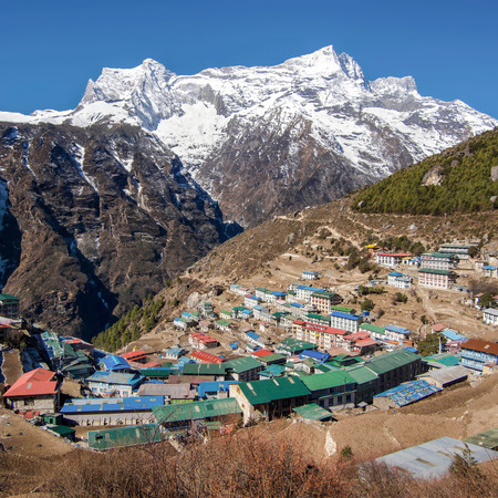 The Himalayan Settlement of Namche Bazaar, Everest Region, Nepal