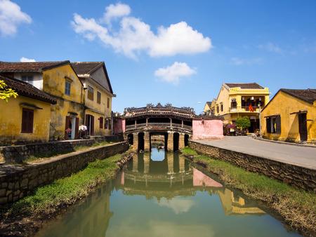 ponte giapponese: Ponte Coperto giapponese in Hoi An, Vietnam centrale. Archivio Fotografico