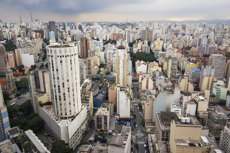 都市の景観、ブラジル サンパウロ 写真素材