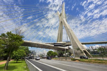 オクタビオ フリアス デ Oliveira 斜張橋またはポンテ ・ Estaiada、サンパウロ、ブラジル
