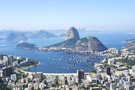 ブラジル、リオ ・ デ ・ ジャネイロのシュガーローフ山 報道画像