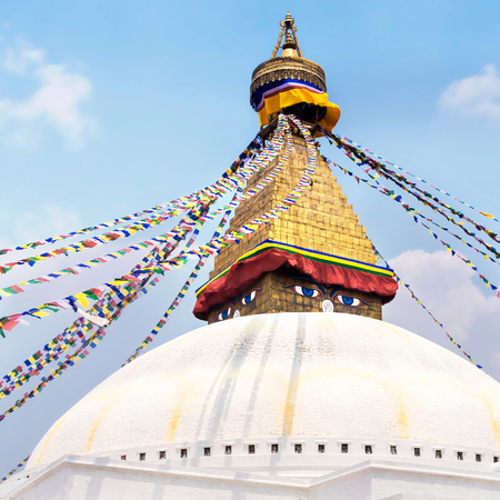 bodnath: Boudhanath Stupa in the Kathmandu valley, Nepal Stock Photo