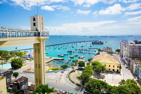 View of All Saints Bay Baia de Todos os Santos in Salvador, Bahia, Brazil Archivio Fotografico