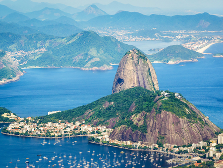 bay: Sugarloaf Mountain in Rio de Janeiro, Brazil Stock Photo
