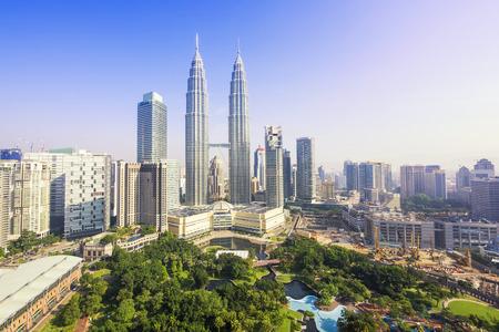 マレーシア ・ クアラルンプールのスカイライン 写真素材