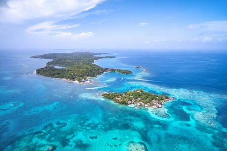 Rosario Islands Off the Coast of Cartagena de Indias, Colombia, Aerial View 写真素材 - 115812767