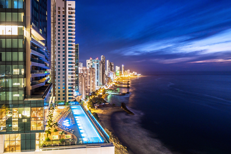 Cartagena de Indias Skyline at Dusk, Colombia Banque d'images