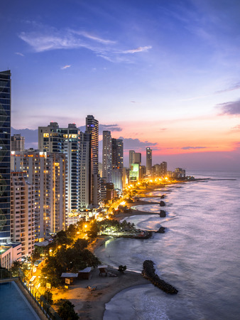 Cartagena de Indias Skyline at Sunset, Colombia