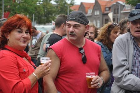 Breda, Netherlands, August 15, 2010, Harleyday, Harley-couple at Harleyday in Breda (2010) Stock Photo - 8722629