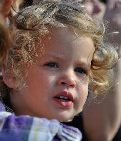 drimmelen: Made, Noord-Brabant, Netherlands - October 3, 2010 - Biesbosch Regional Festival, portrait of a little girl