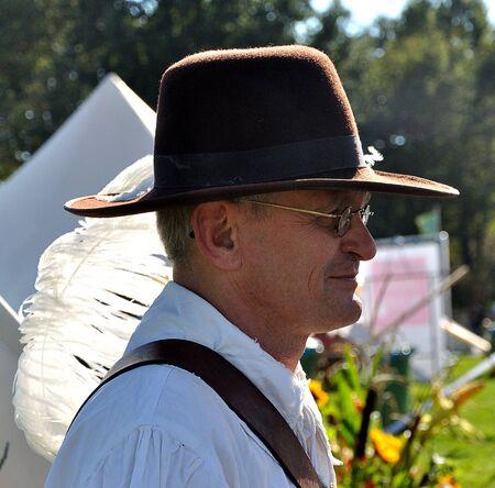 drimmelen: Made, Noord-Brabant, Netherlands - October 3, 2010 - Biesbosch Regional Festival, a  member of the militia of the village of Geertruidenberg