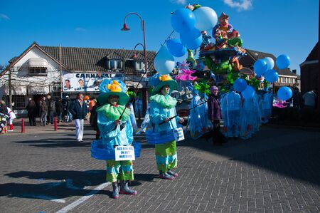 drimmelen: Made, North-Brabant, Netherlands – March 6, 2011 - Dutch carnival in the streets of a small village, part of the parade