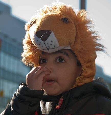 breda: Breda, North-Brabant, Netherlands – March 7, 2011 – Carnival Parade,  impression of the people, a costumed young boy