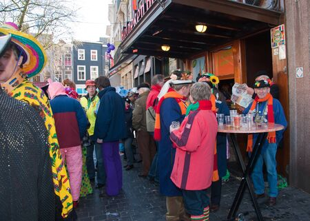 breda: Breda, North-Brabant, Netherlands – March 7, 2011 – Carnival Parade,  impression of the people, group portrait Editorial