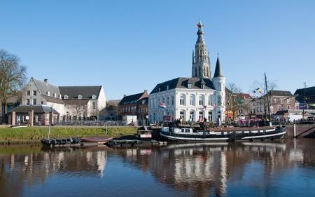 Uitzicht op de stad van Breda (Nederland)
