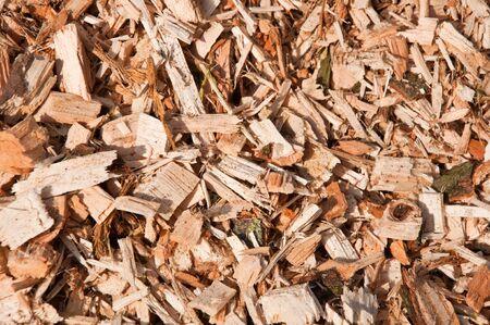 Holzschnitzel von Bäumen Lizenzfreie Bilder