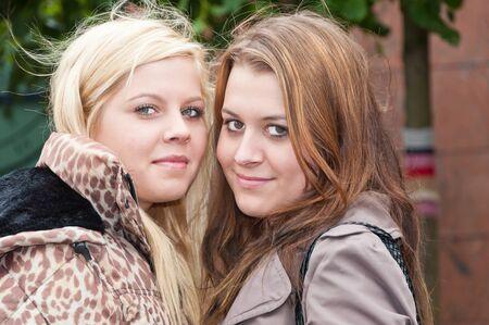 noord brabant: Terheijden, North-Brabant, Netherlands, June 19, 2011, Annual fair Traaierie 2011, portrait of two young Dutch women