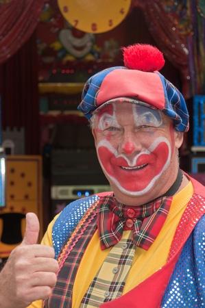 Terheijden, North-Brabant, Netherlands, June 19, 2011, Annual fair Traaierie 2011, portrait of clown Cees
