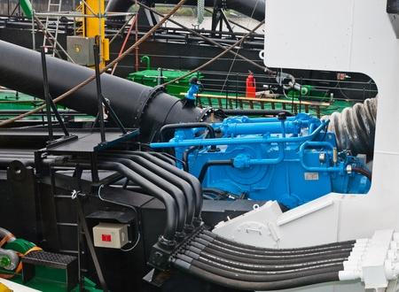 gamme de produit: Sliedrecht, Hollande-M�ridionale, Pays-Bas, Juin 25, 2011, Journ�e portes ouvertes chantier naval IHC Merwede, partie de la plate-forme d'une drague de coupe